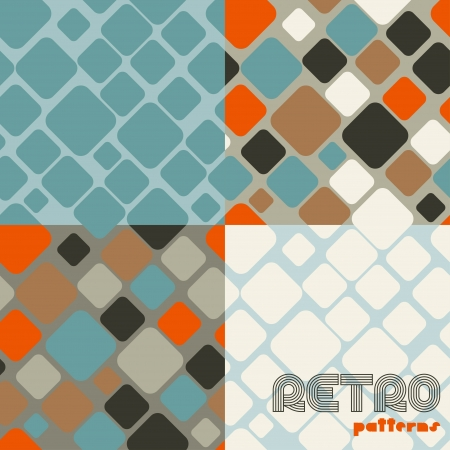 Set of four abstract retro seamless patterns Stock Vector - 17160949
