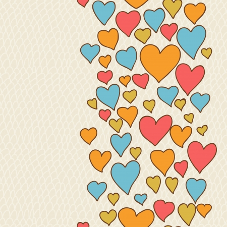 Valentine s day lovely seamless texture with cute doodles  Vector