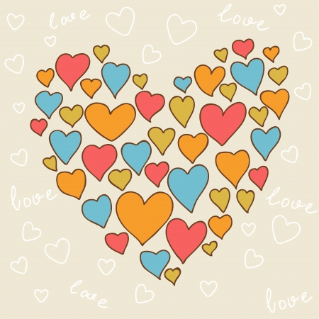 love couples: Valentine s day lovely seamless texture with cute doodles