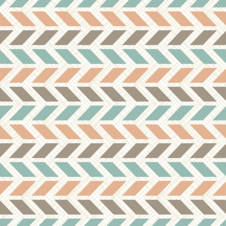 geometric pattern in a square: Seamless retro geometric pattern