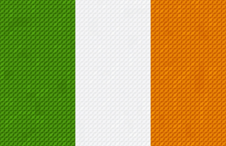 Irish flag background made with embroidery cross-stitch Stock Vector - 17285466