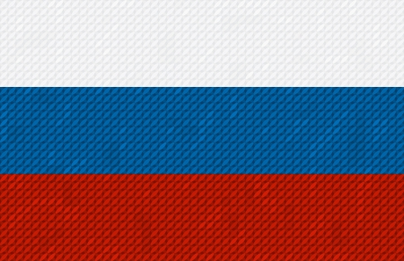 russian flag: Russian flag background made with embroidery cross-stitch