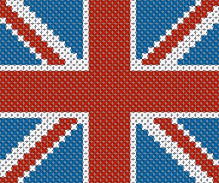 bandera de gran breta�a: Gran Breta�a fondo de la bandera hecha con bordados de punto de cruz