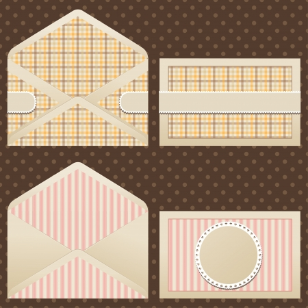 Collection of old  vintage envelopes Stock Vector - 17476427