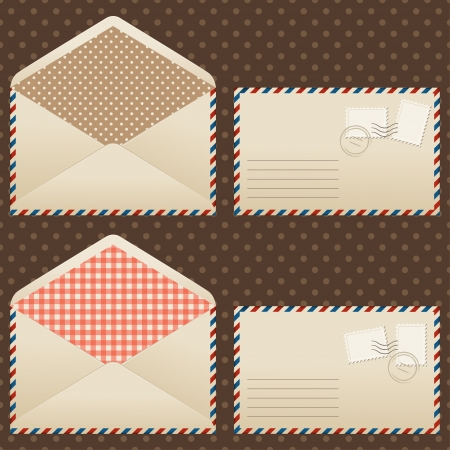 Collection of old  vintage envelopes  Stock Vector - 17476425