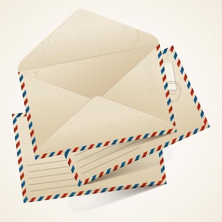 Stack of old  vintage envelopes  Stock Vector - 17476432