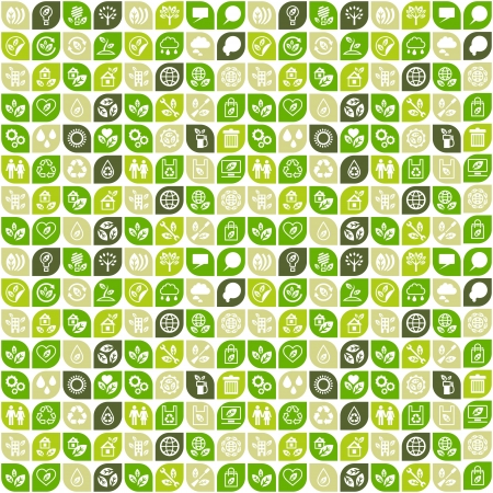 Abstract background of eco web icons