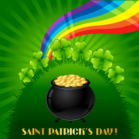 Greeting card for Saint Patrick s day  Illustration