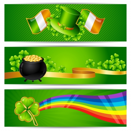 Banners for Saint Patrick s day  Vector