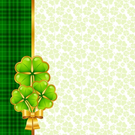 Greeting card for Saint Patrick s day  Vector