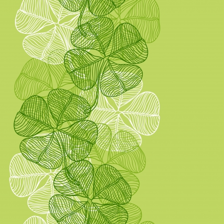 Seamless pattern with abstract clover leaves Stock Vector - 17539869