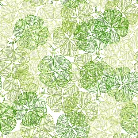 fortune flower: Seamless pattern with abstract clover leaves