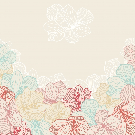 congratulate: Abstract elegance seamless flower background with orchid  Illustration
