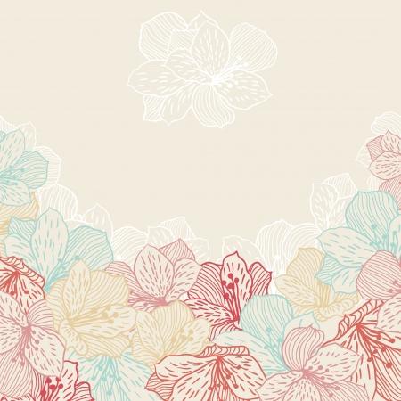 Abstrait fleur élégance sans faille avec l'orchidée Vecteurs