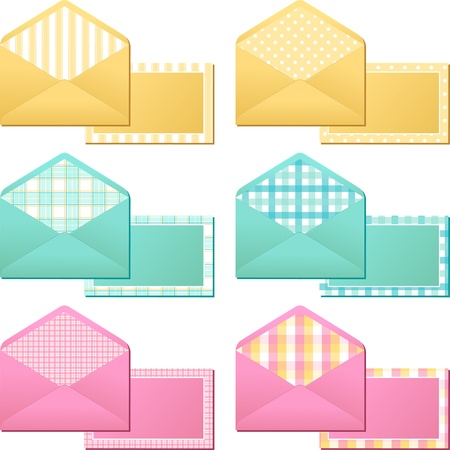 Collection of old  vintage envelopes  Stock Vector - 17594802