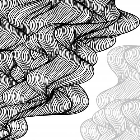 human skin texture: Abstract hand-drawn waves background