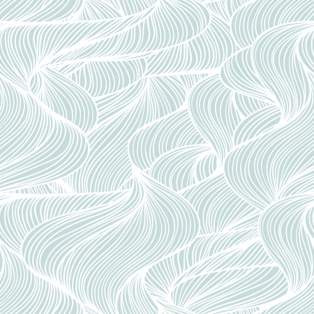 Seamless abstract wave hand-drawn pattern Stock Vector - 17599519