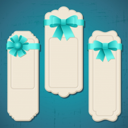 Collection of badges, labels, tags with bows and ribbons  Vector