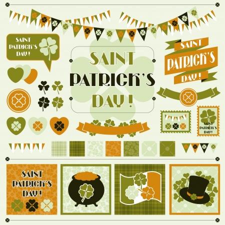 saint patrick s day: Collection design elements of Saint Patrick s Day  Illustration