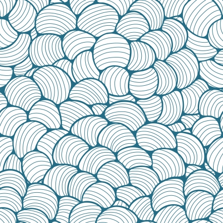 ribbed: Seamless abstract wave hand-drawn pattern