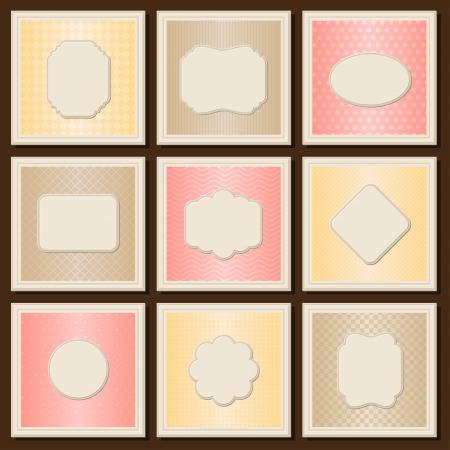 patterned: Vintage patterned cards templates set