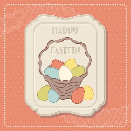 spun: Happy Easter retro greeting card