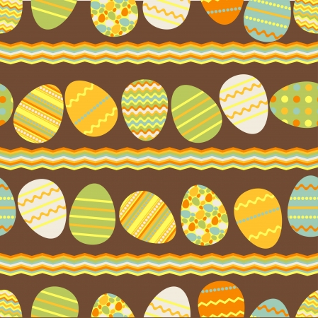 orthodox easter: Happy Easter retro seamless pattern