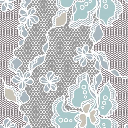 Kant stof naadloze patroon met abstact bloemen