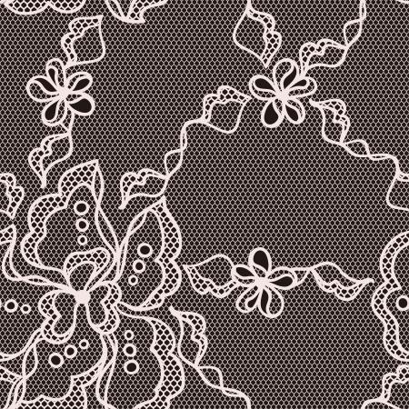 trabajo manual: Encaje patrón de la tela transparente con flores abstact