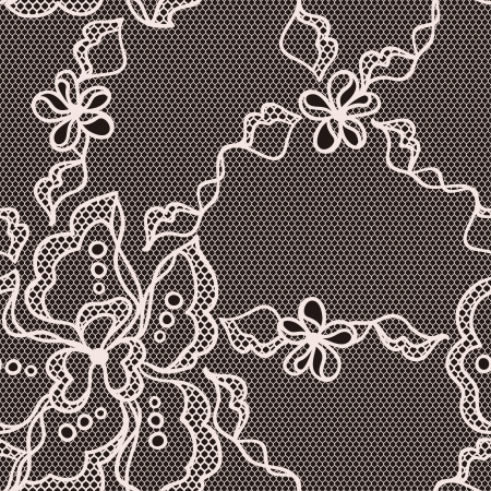 handwork: Lace fabric seamless pattern with abstact flowers