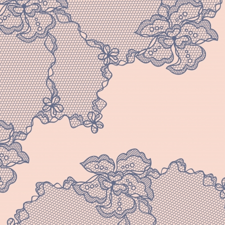 floral lace: Old lace background, ornamental flowers