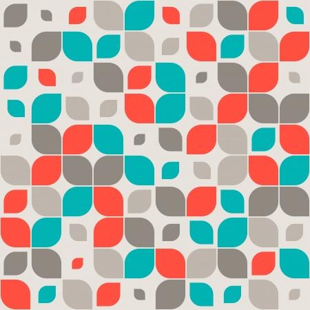 cuadrados: Seamless patrón geométrico retro Vectores