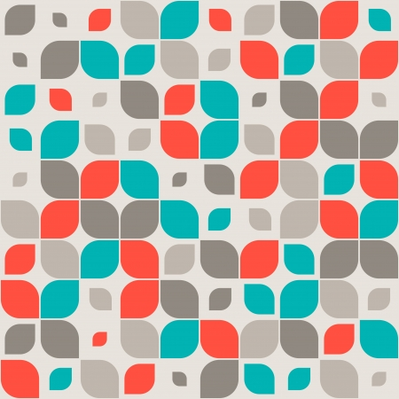 paper graphic: Seamless retro geometric pattern