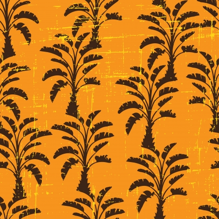 Vector seamless pattern of palm trees  Vector