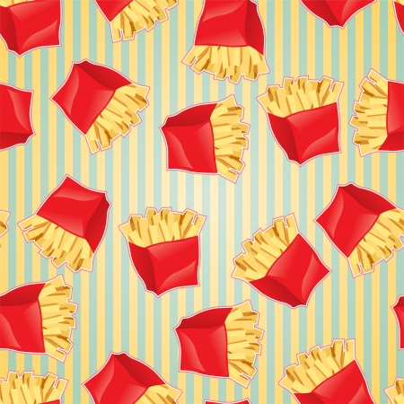 unhealthy food: Fast food seamless pattern background