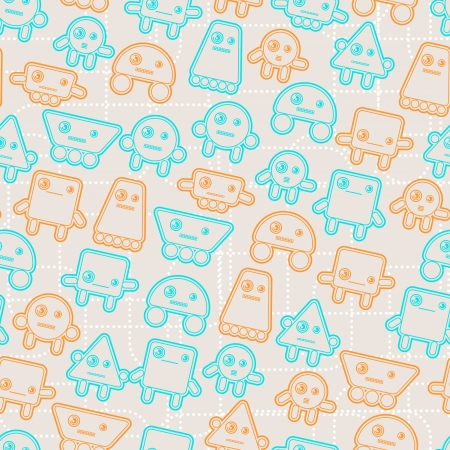 Cartoon robots seamless pattern  Stock Vector - 18461764
