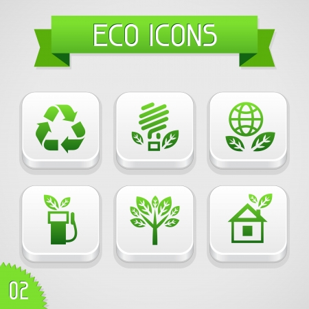 Collection of apps icons with eco elements  Set 2  Stock Vector - 18467933