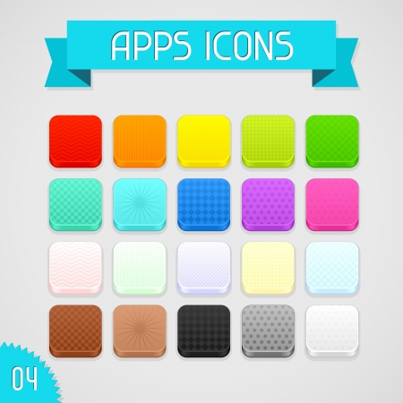 Collection of color apps icons  Set 4 Stock Vector - 18467934