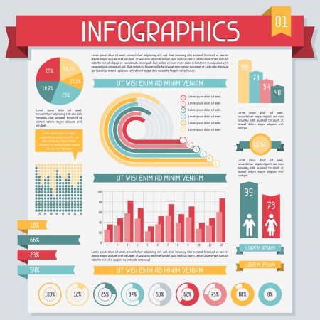 grafisch: Infographics elementen collectie Set 1