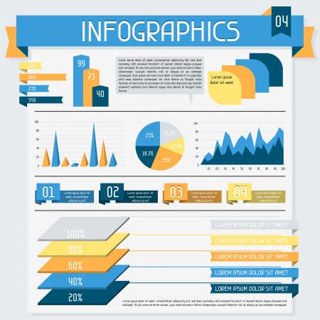 Infographics elements collection  Set 4 Stock Vector - 18548573