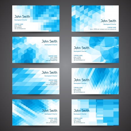 Business cards set with abstract geometric background Stock Vector - 18551085