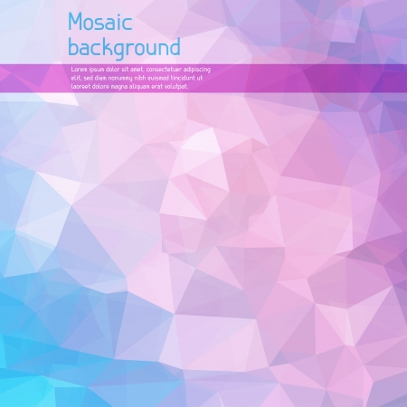Mosaic abstract background with triangles Stock Vector - 18563595