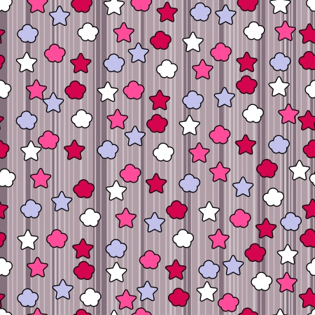 Seamless pattern with cute doodles  Vector