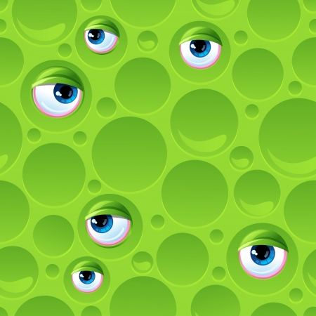Abstract seamless pattern with bubbles and eyes  Stock Vector - 18844573