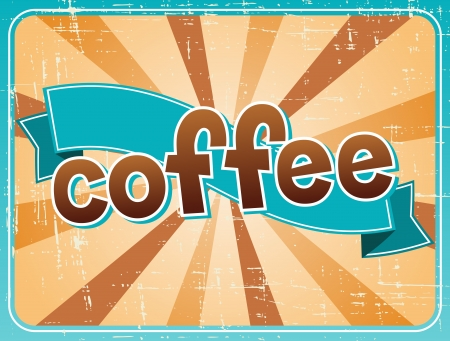 Poster with a coffee cup in retro style Stock Vector - 18767492