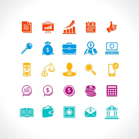 Set of business and money web icons  Stock Vector - 18844566