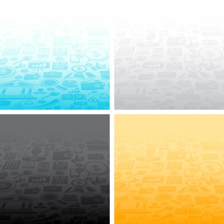 Abstract backgrounds of the business icons  Stock Vector - 18881427