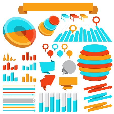 Infographics elements collection Stock Vector - 18915048