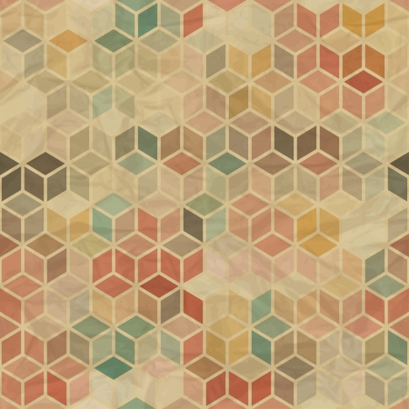 fondo geometrico: Patr�n geom�trico retro sin fisuras Vectores
