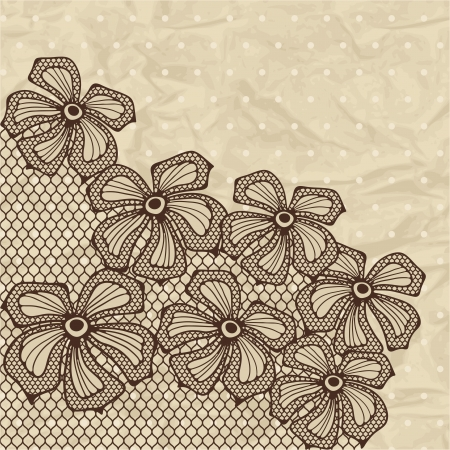 craft ornament: Old lace background, ornamental flowers